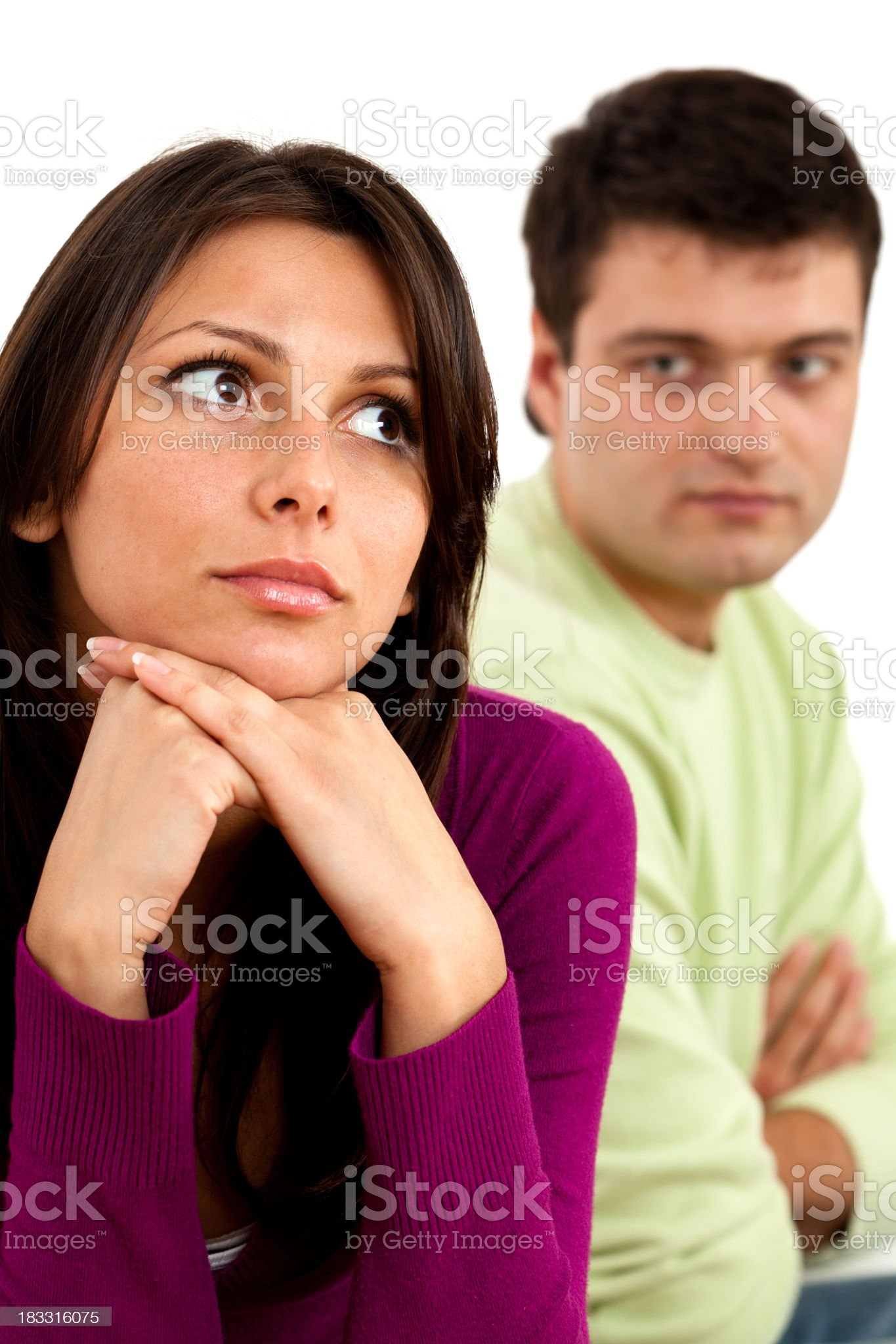 Young couple having a relationship difficulties royalty-free stock photo