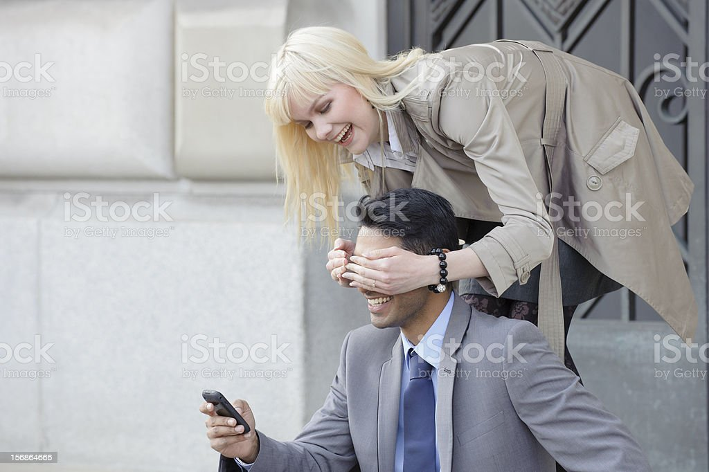 Young Couple Having Fun stock photo