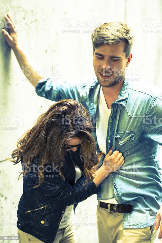 Young couple having fun! royalty-free stock photo