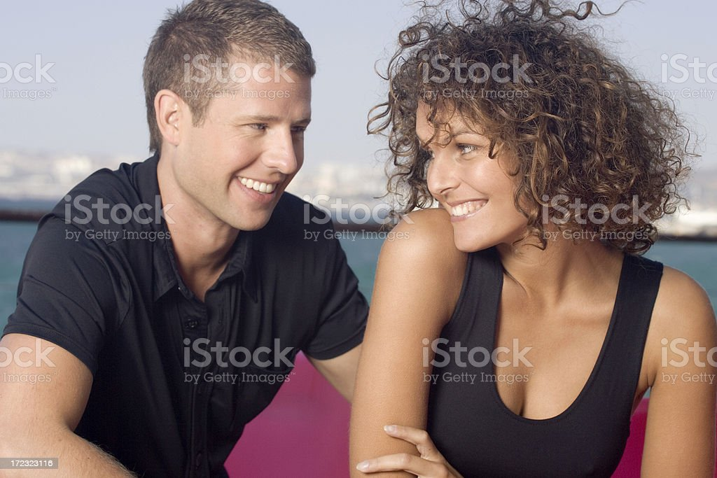Young couple having fun royalty-free stock photo