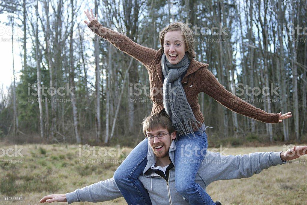 Young couple having fun royalty-free stock photo