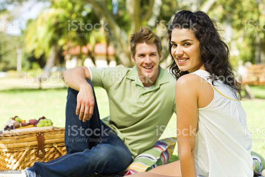 Young couple having leisure time at park royalty-free stock photo