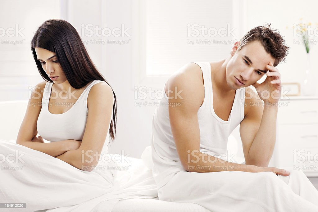 Young couple having relationship difficulties royalty-free stock photo