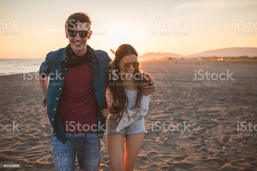 Young couple having the time of their lives stock photo