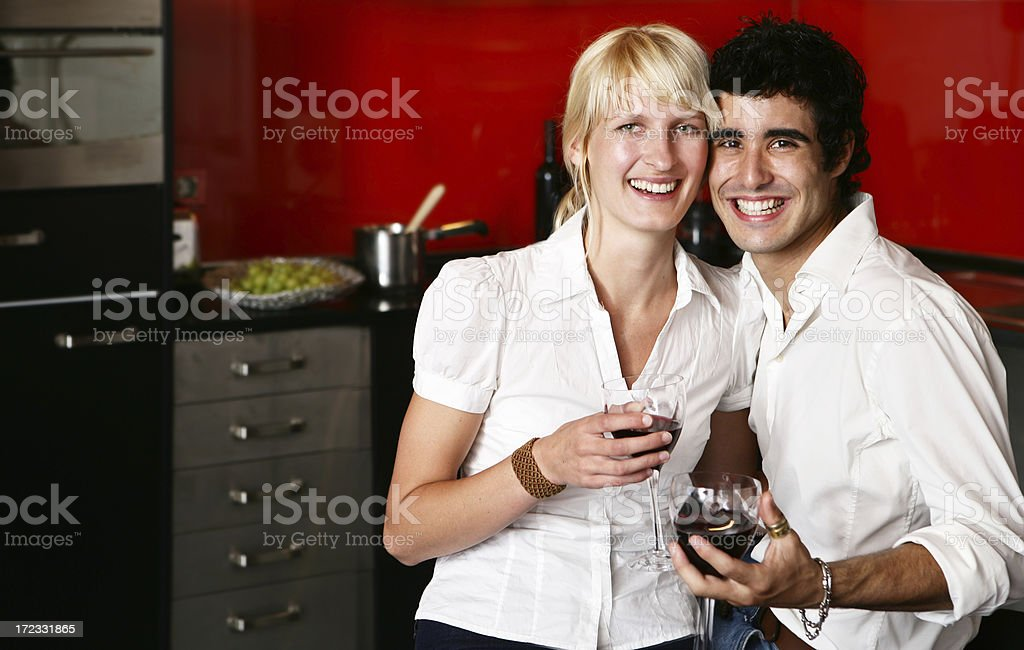 Young Couple having Wine royalty-free stock photo