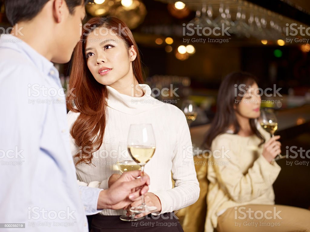 young couple in bar royalty-free stock photo