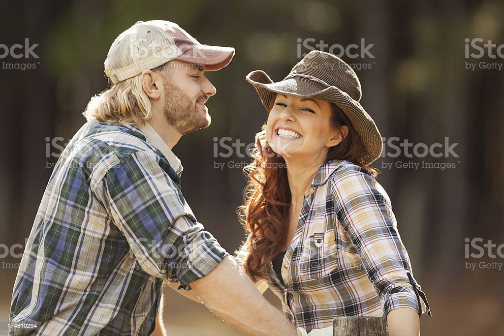 Young Couple In Checked Shirts royalty-free stock photo