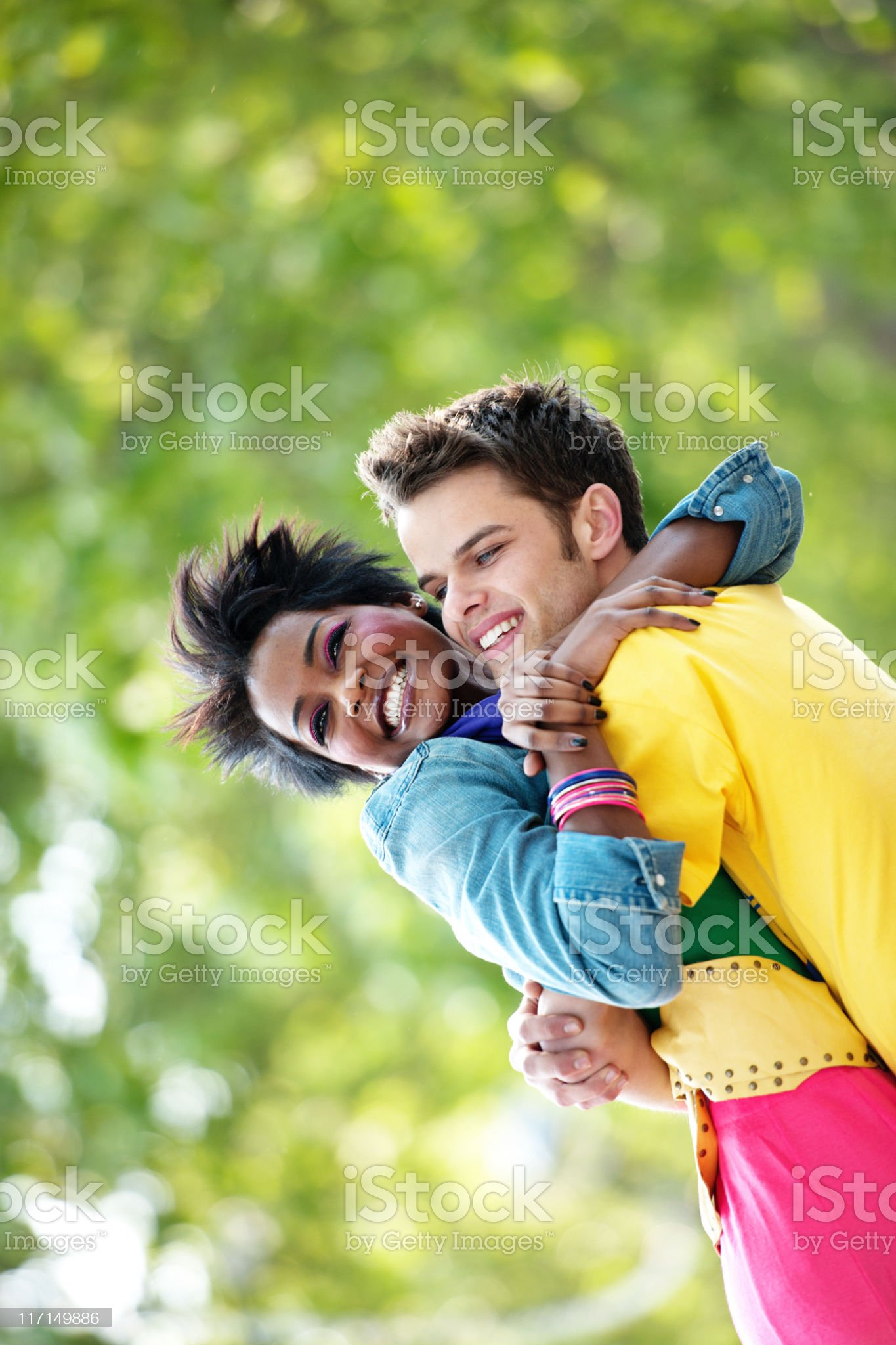 Young couple in London royalty-free stock photo