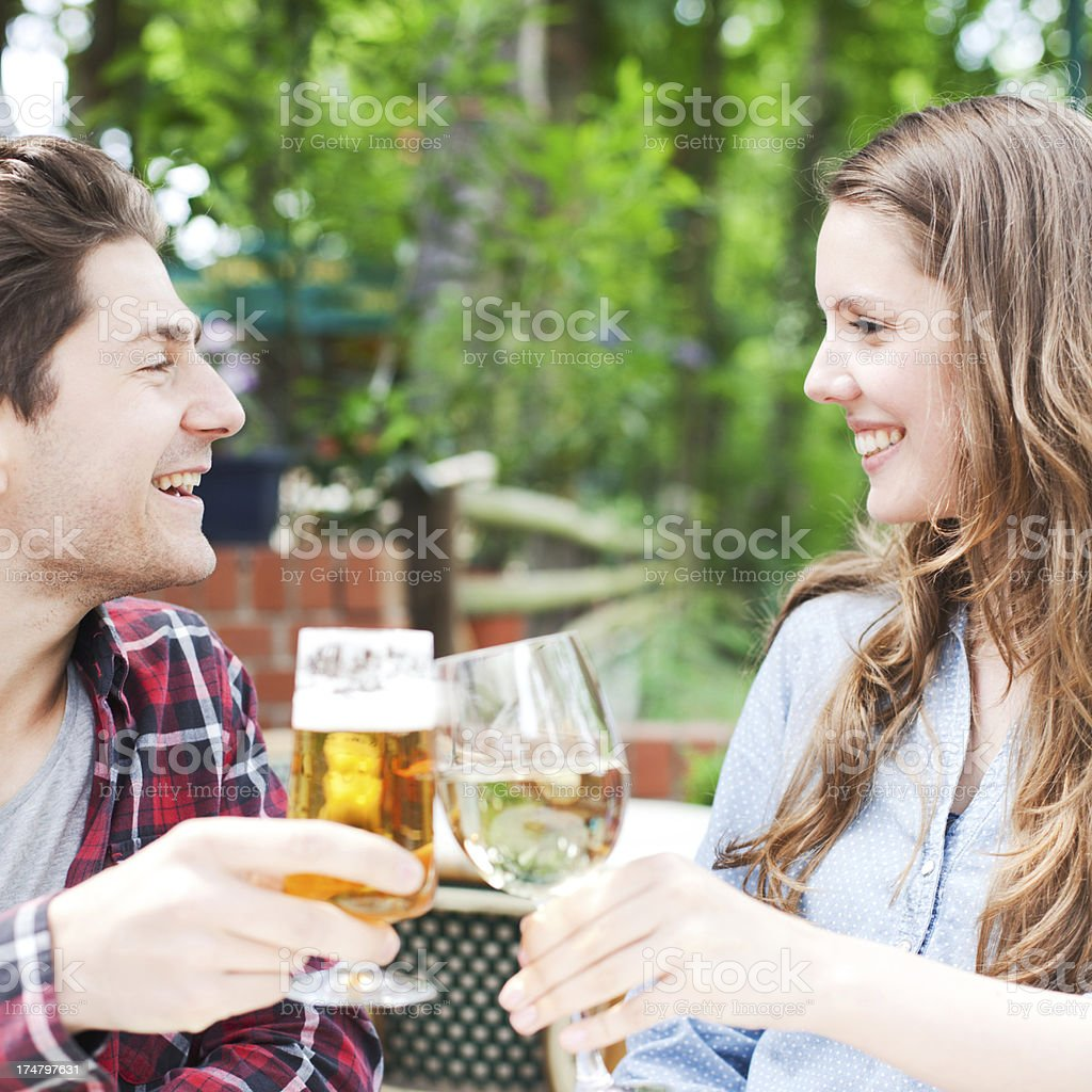 Young couple in love having fun royalty-free stock photo