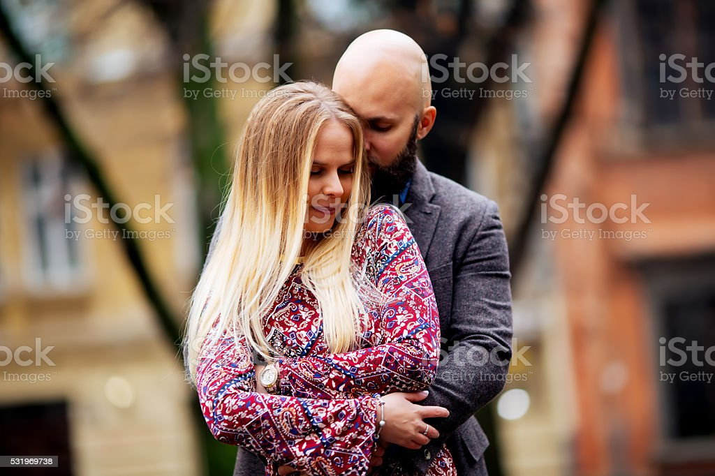 young couple in love outdoor life royalty-free stock photo