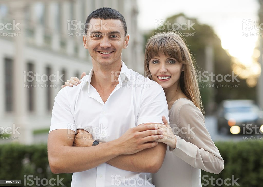 Young couple in love outdoor. royalty-free stock photo