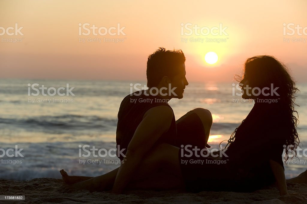 Young couple in love royalty-free stock photo
