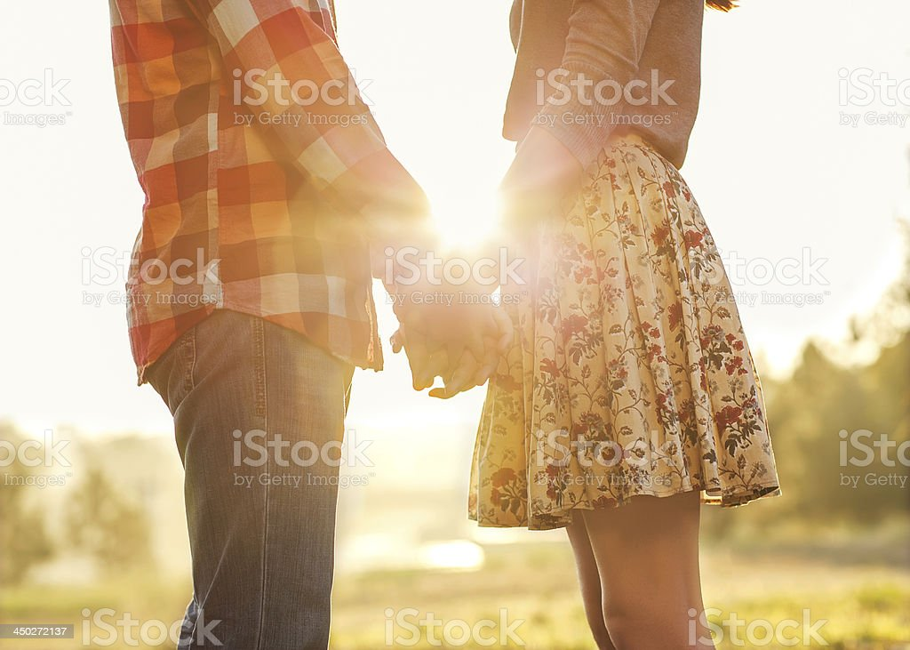 Young couple in love. stock photo