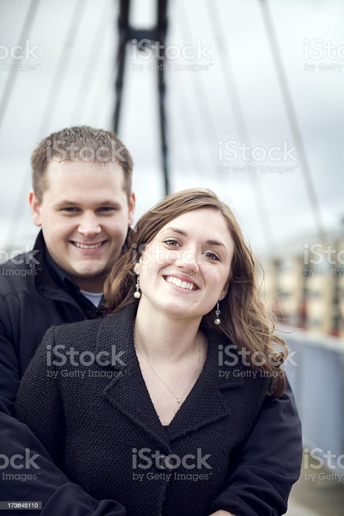 Young Couple In Love / Urban Setting royalty-free stock photo