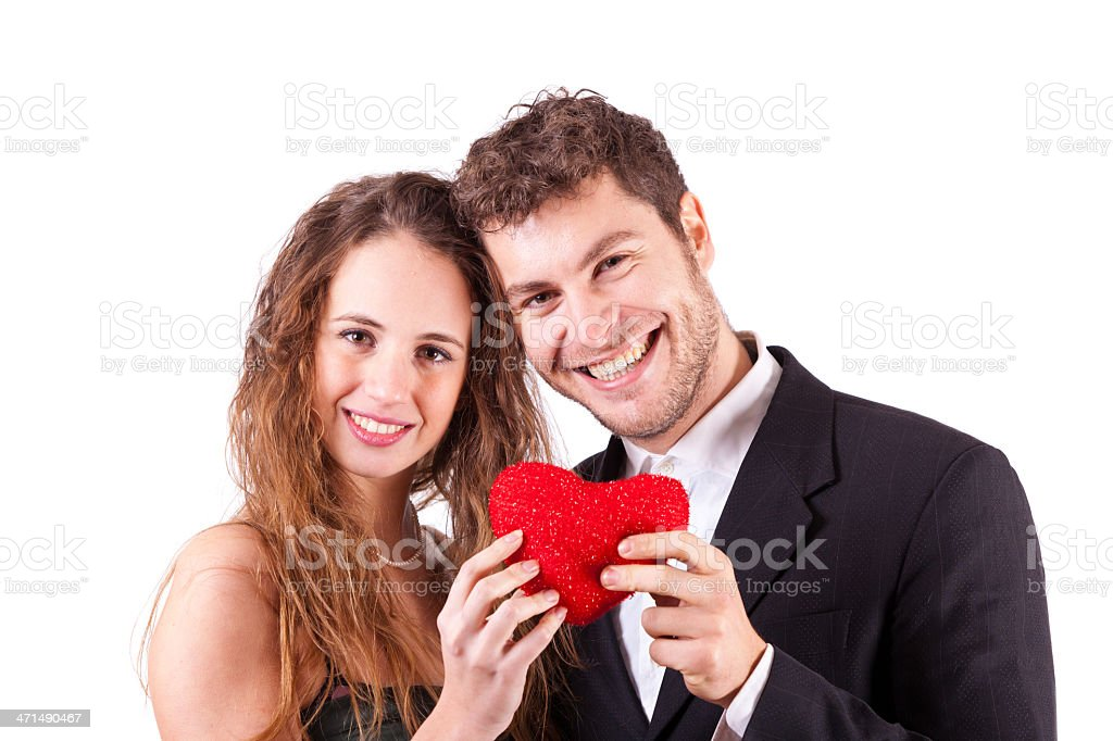Young Couple in Love, Valentine's Day theme royalty-free stock photo