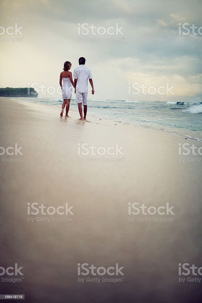 Young Couple in Morning light stock photo