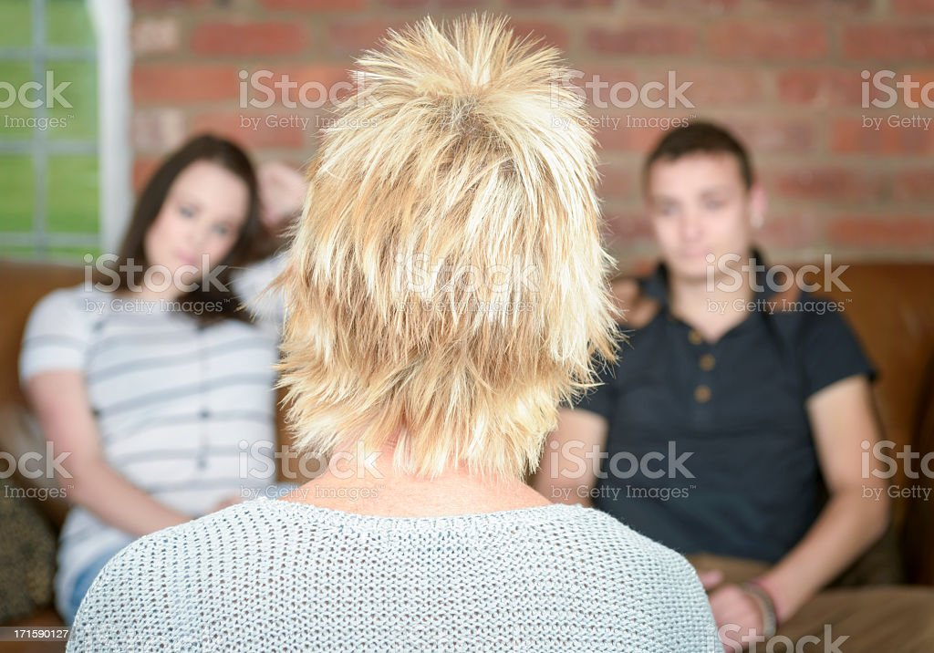 Young Couple in Relationship Councelling royalty-free stock photo