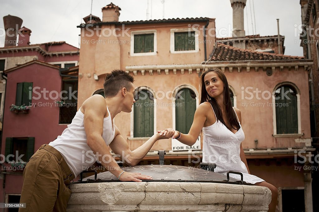Young Couple in Venice royalty-free stock photo