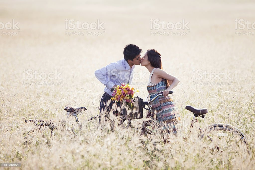 Young couple kissing royalty-free stock photo