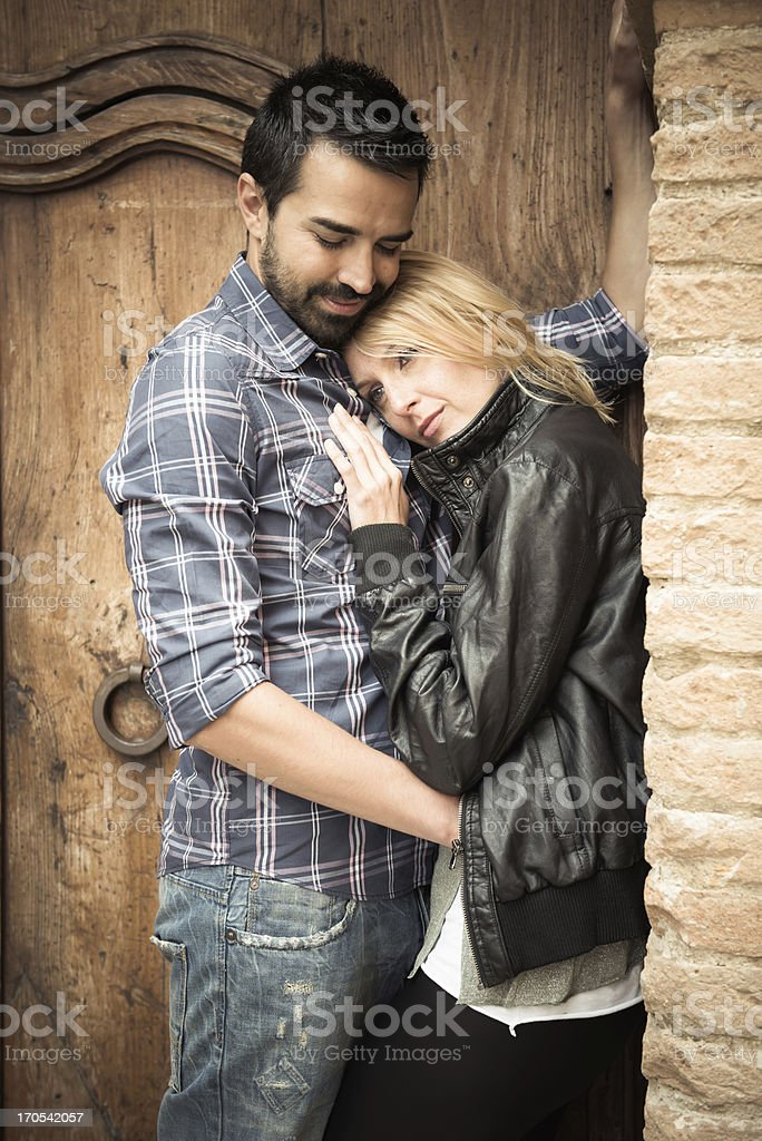 Young couple loving royalty-free stock photo