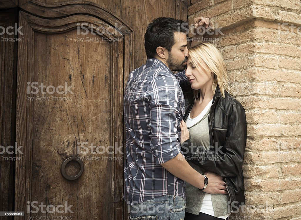 Young couple loving stock photo