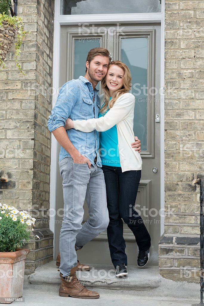 Young Couple - New Home royalty-free stock photo