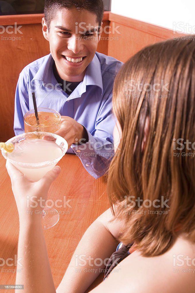 Young Couple on a Date royalty-free stock photo