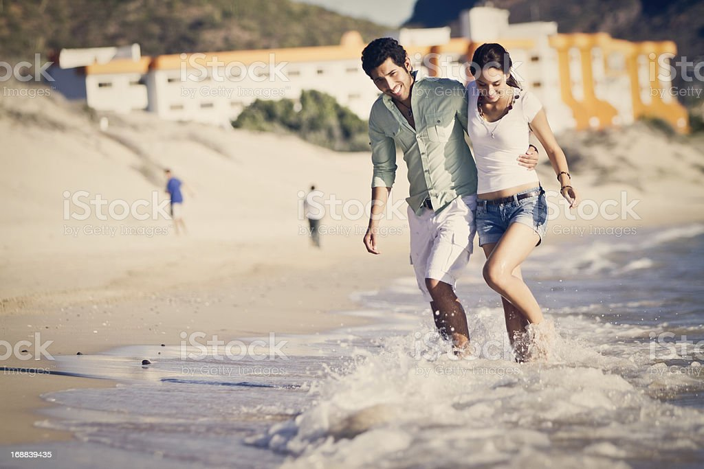 Young Couple on the Beach royalty-free stock photo