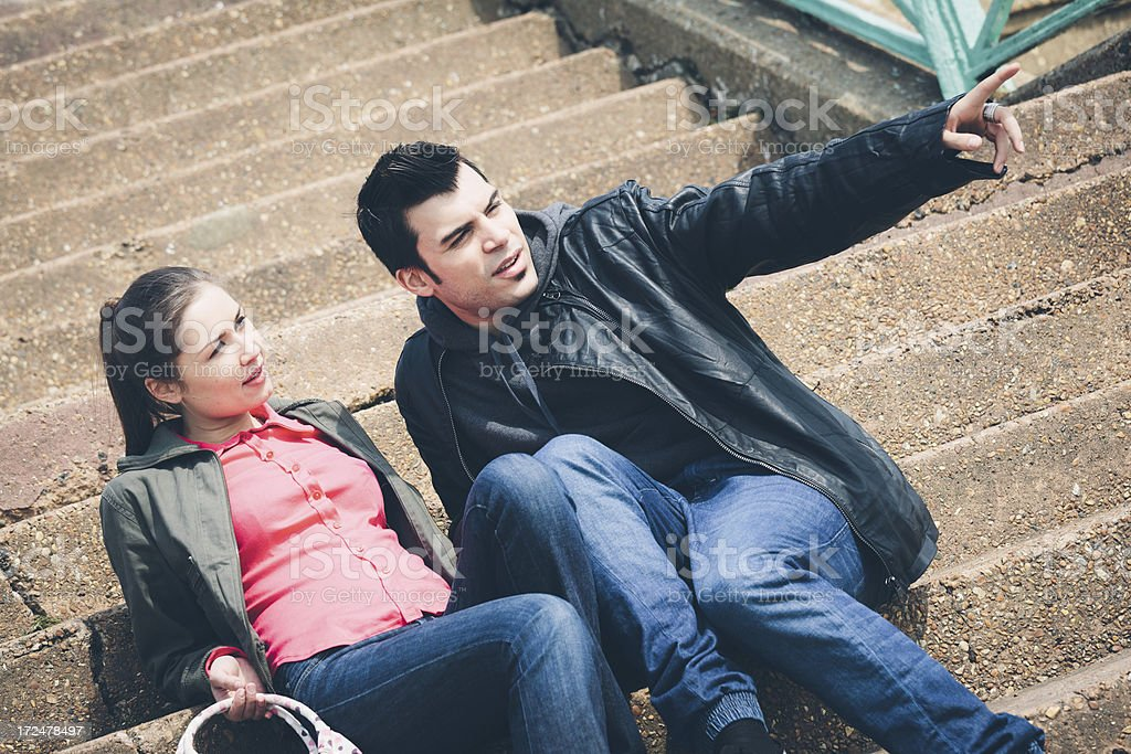 Young couple outdoor royalty-free stock photo