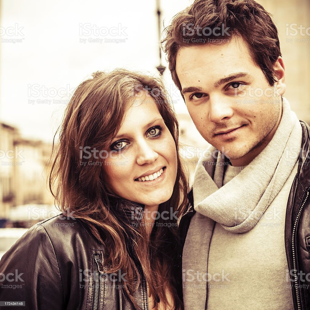 Young Couple Outdoors royalty-free stock photo