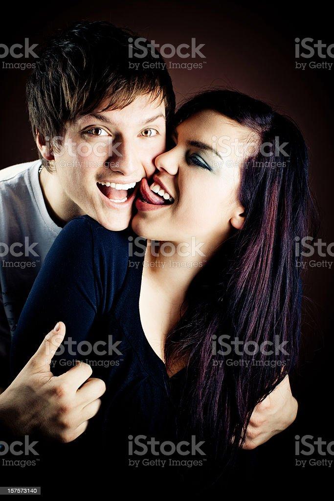 Young couple portrait stock photo