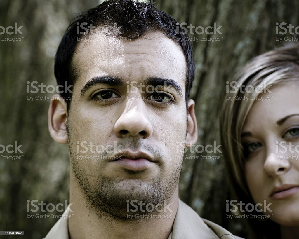 Young Couple Portrait royalty-free stock photo