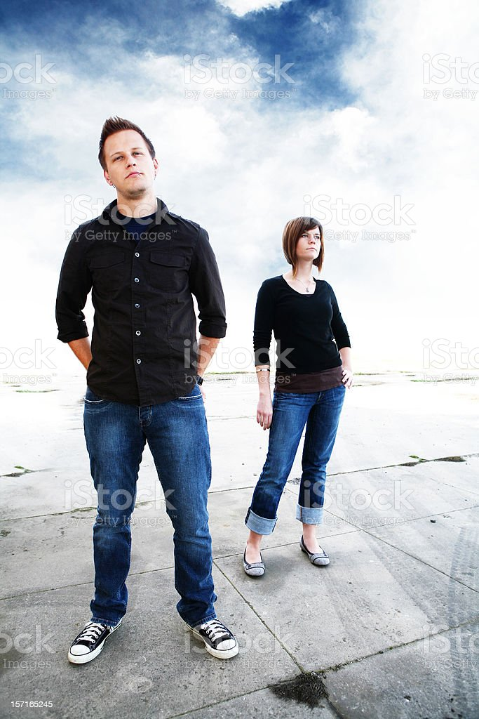 Young Couple Posing for Photos royalty-free stock photo