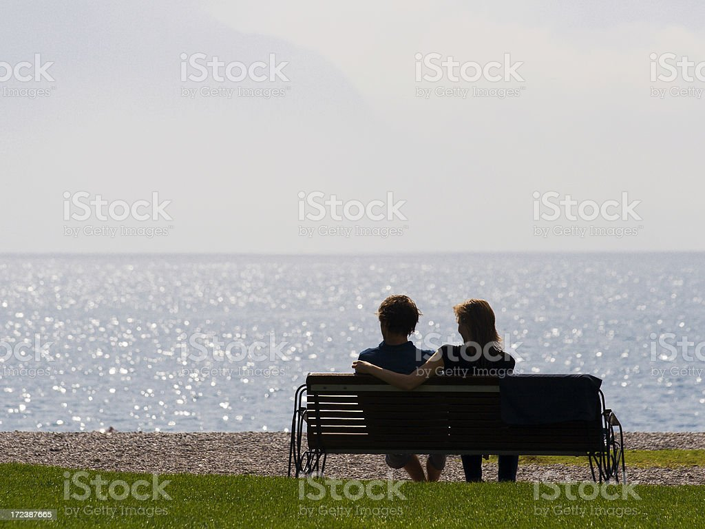Young couple relaxing royalty-free stock photo