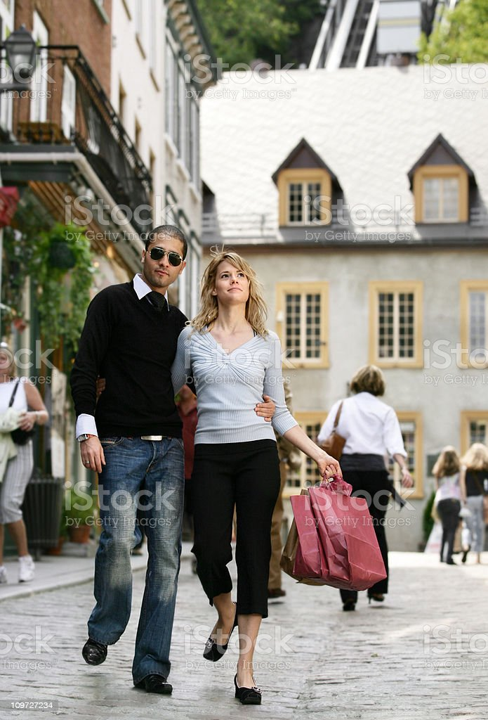 Young Couple Shopping royalty-free stock photo