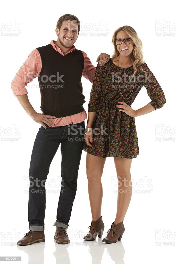 Young couple standing royalty-free stock photo