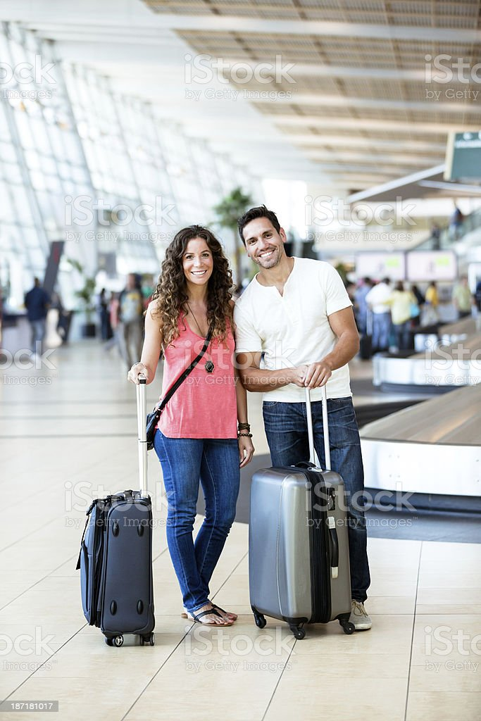 Young couple traveling royalty-free stock photo
