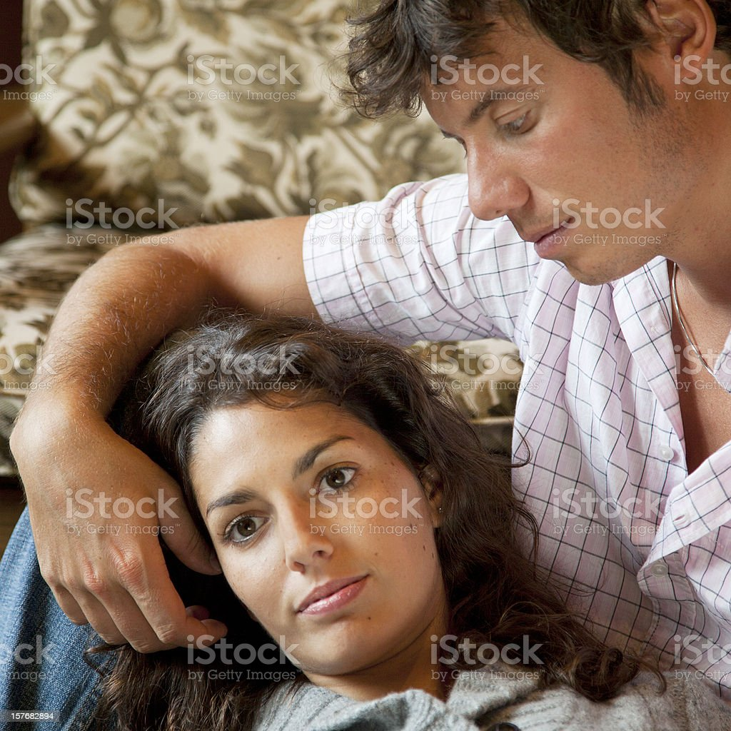 Young couple truely in love. stock photo