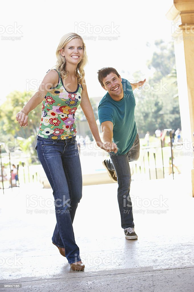 Young Couple Visiting Building In City royalty-free stock photo