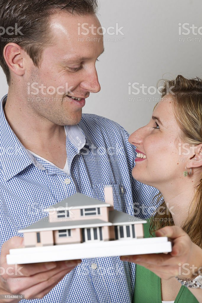 Young couple wants to buy a house. royalty-free stock photo