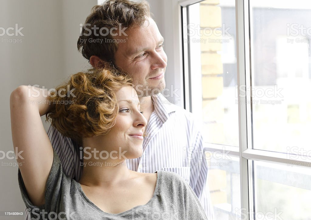 Young couple with aspirations royalty-free stock photo