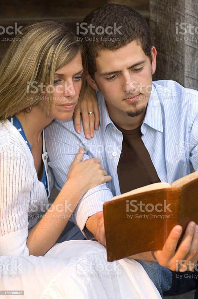 Young Couple with Bible stock photo