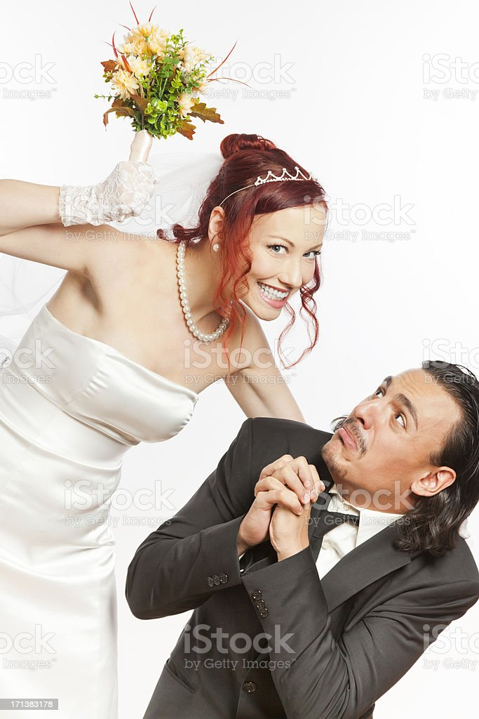 Young couple with marital problems royalty-free stock photo
