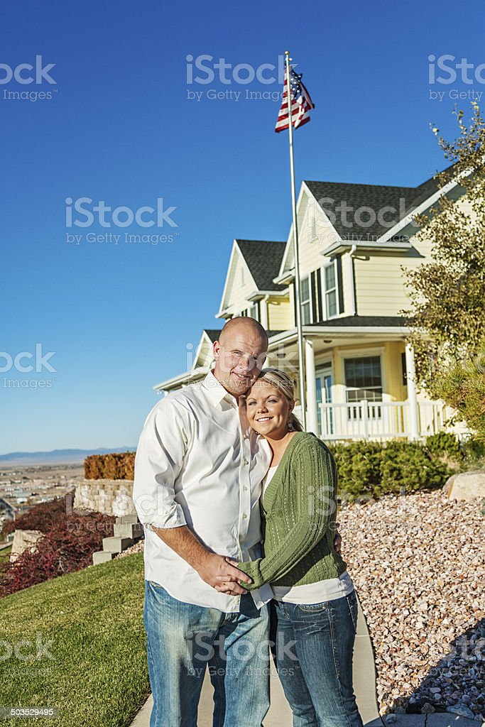 Young Couple with New Home royalty-free stock photo