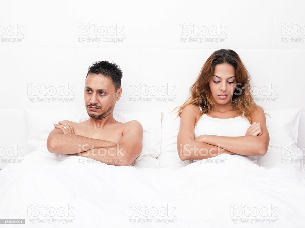 Young couple with problem royalty-free stock photo
