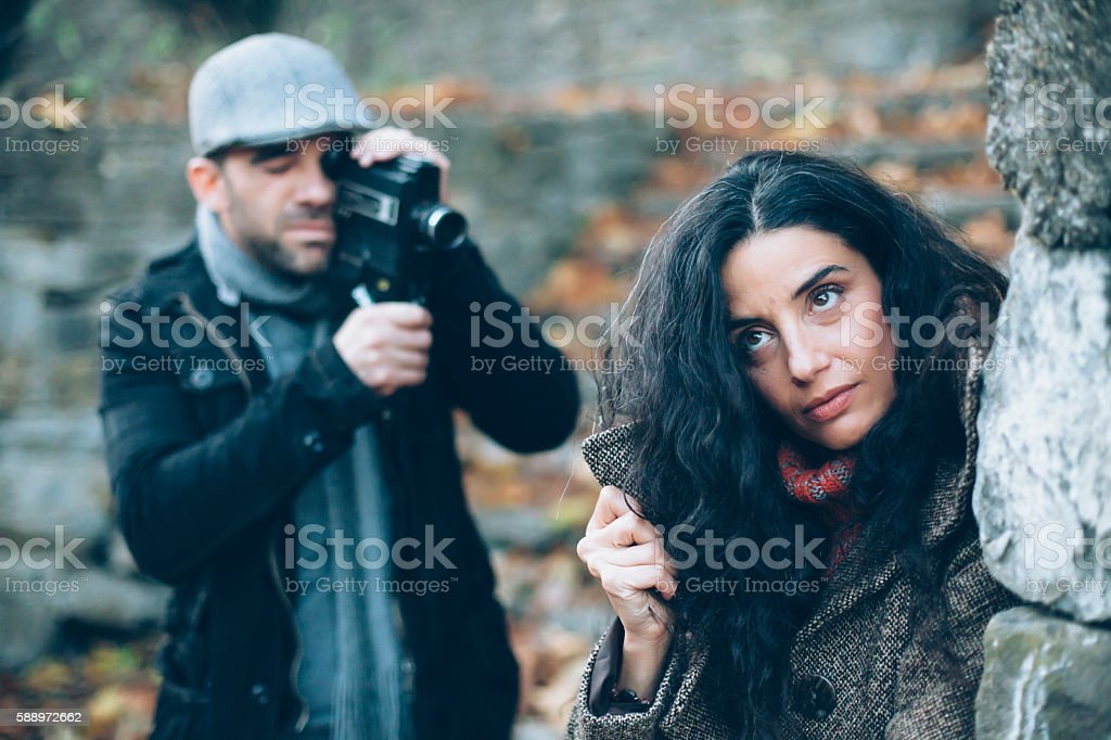 Young couple with relationship problems stock photo