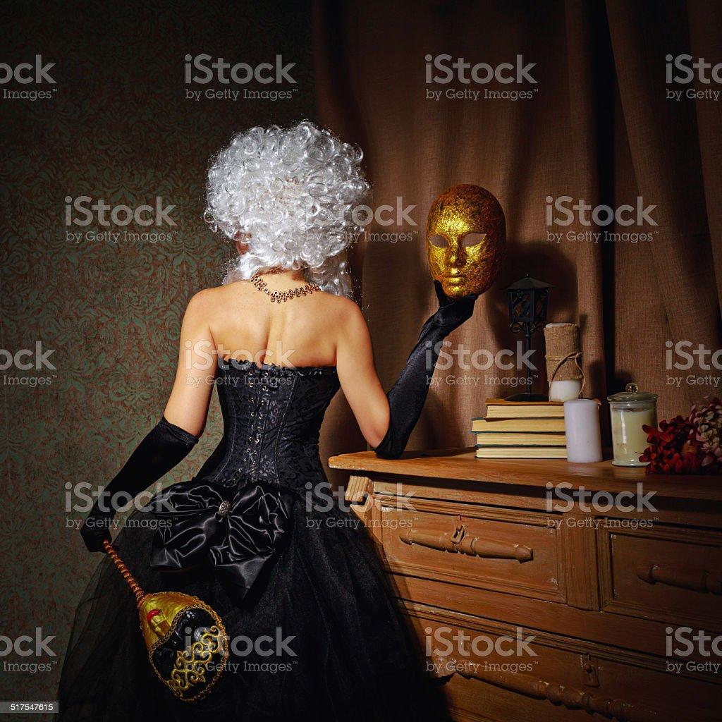 Young courtesan stock photo
