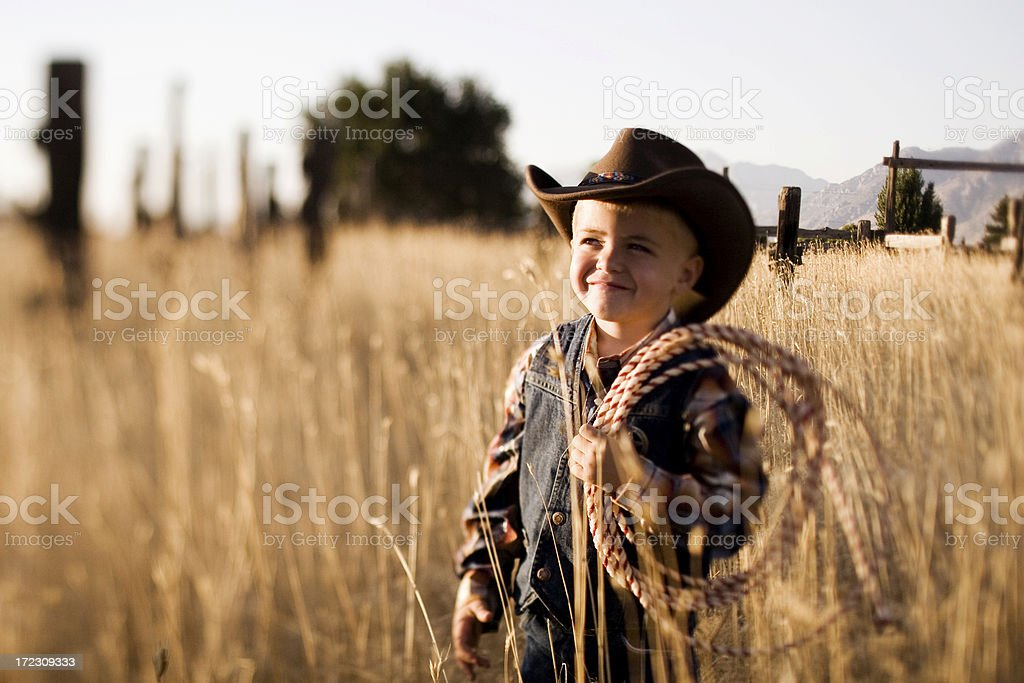 Young Cowboy royalty-free stock photo