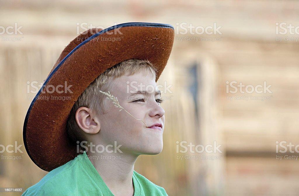 Young Cowboy royalty-free stock photo