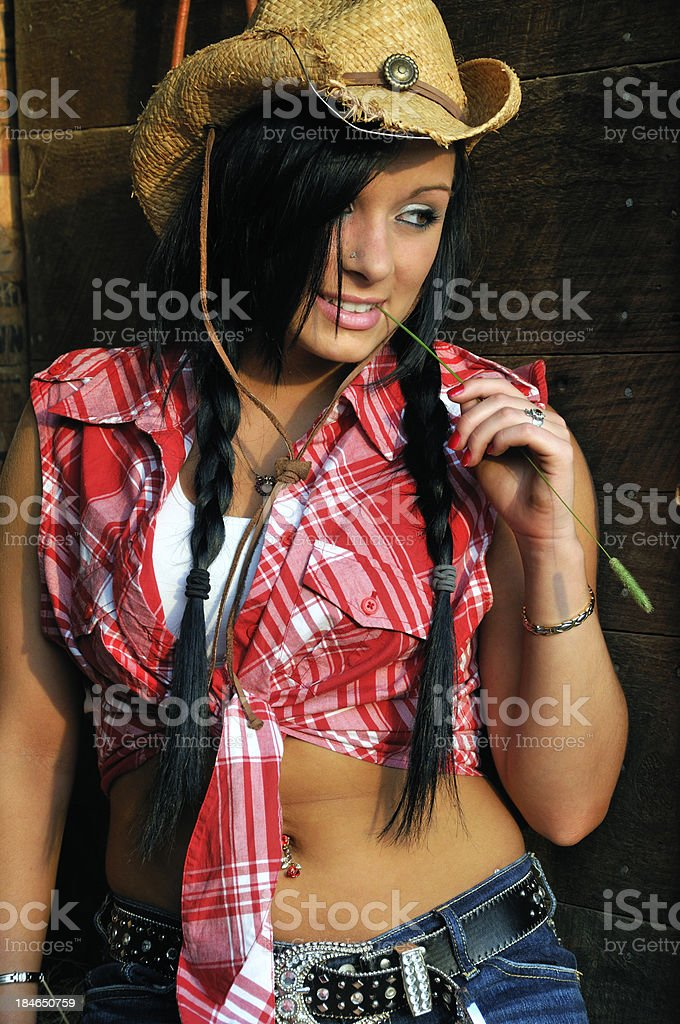 Young Cowgirl stock photo